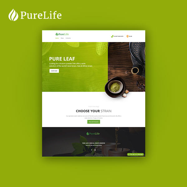 portfolio website pure leaf
